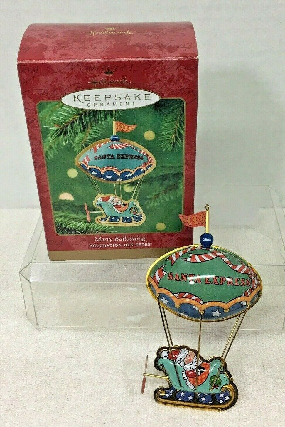 Primary image for 2000 Merry Ballooning Hallmark Christmas Tree Ornament MIB Price Tag Q3