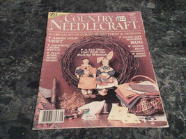 Country Needlecraft Magazine August 1987 Amish Tulip Vest - $0.99