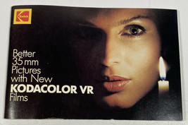 Vintage Kodak Booklet Better 35mm Pictures New Kodacolor VR Films 70 Pag... - $4.21