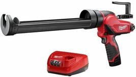 Milwaukee Quart Caulk Adhesive Gun Kit 12V Lithium-Ion Battery/Charger I... - $187.95