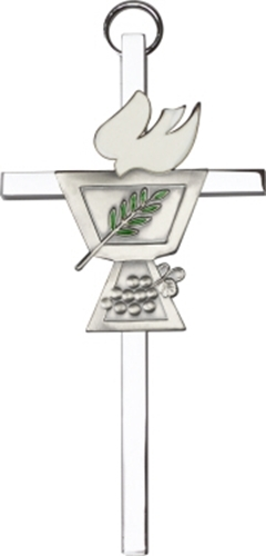 Primary image for Confirmation Chalice Wall Cross - Silver