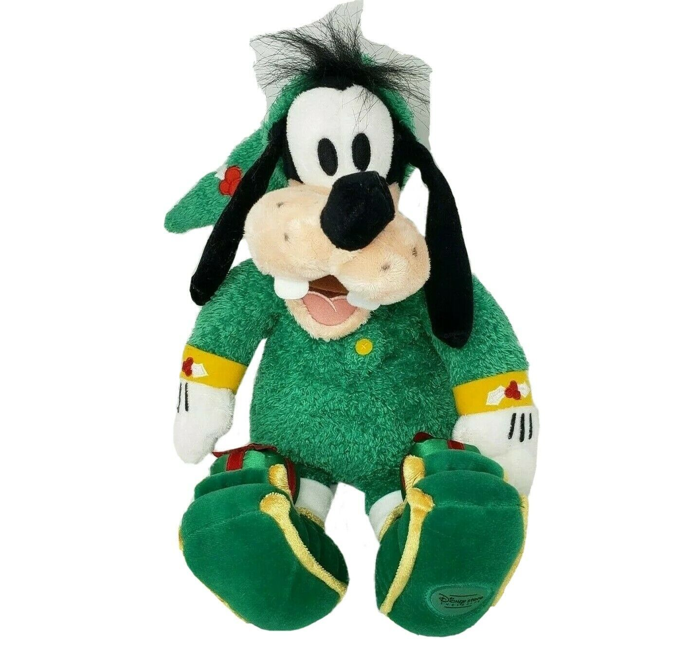 "12"" DISNEY STORE ELF GOOFY SLEEPER W/ CHRISTMAS PRESENTS STUFFED ANIMAL PLUSH - $32.73"