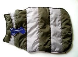NEW Horizon Group Puffer Dog Jacket Puppy/Pet Size Medium Grey Reversible - $8.95