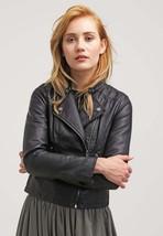 Women's Leather Motorcycle 100% Biker Jacket Real Genuine Soft Lambskin -94