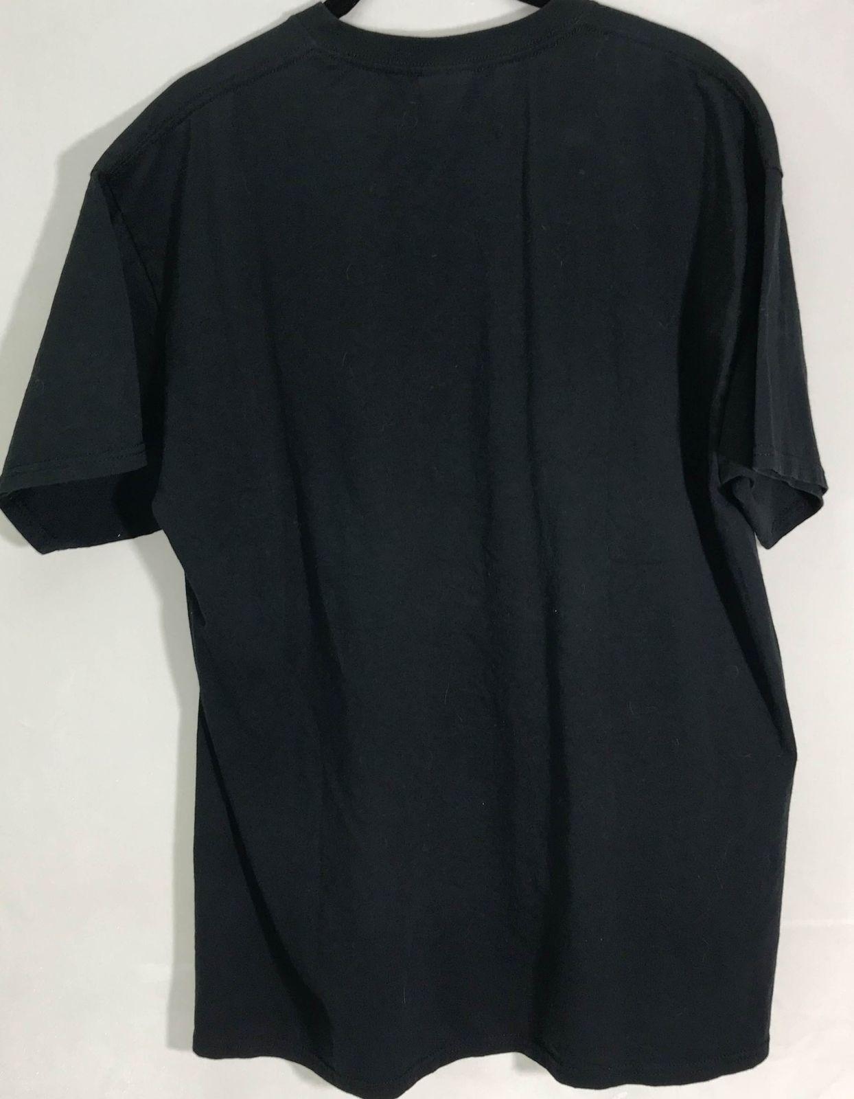 Mr FurryPants L Black Disorderly Conduct Bad Cattitude Cat Mugshot T Shirt