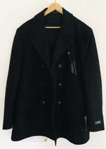 $350 NWT Ralph Lauren Men Black Double Breasted Overcoat Coat Wool Sz 44R Luke - $234.65