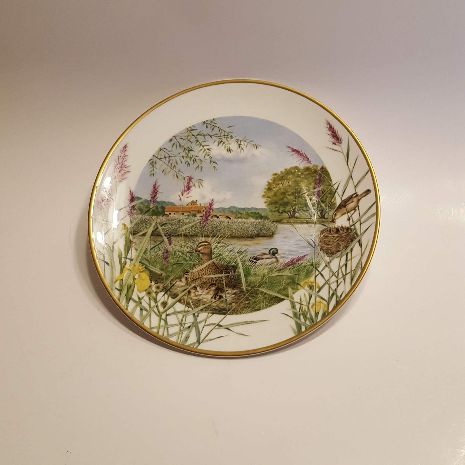 Primary image for Franklin Porcelain Plate July beside the river @1979 by Peter Banett