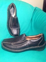 Born W3511 Women's 6.5M Black Leather Loafers Slip On Mocc ASIN S Flats Mrsp $89 - $39.59