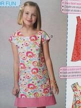 McCalls Sewing Pattern 7111 Girls Childs Dresses Belt Size 7-14 New - $17.46