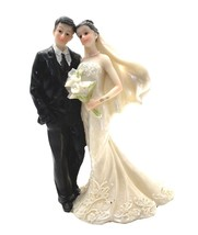 Bride and Groom Wedding Cake Top Couple - $12.86