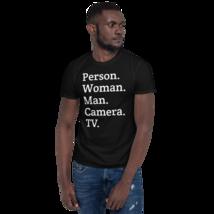person woman man camera tv / person woman man camera tv T-Shirt image 6