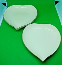 Set of 2 Lenox 2000 Keepsake Collection Heart Dishes with Gold Trim - $5.93
