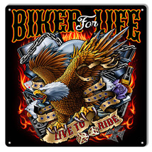 Biker For Life Eagle By Artist Bernard Oliver 12×12 - $25.74
