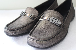 NEW! Donald J. Pliner Gorgeous VEEO Leather Metallic Flats Driving Loafe... - $82.80