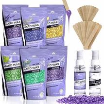 Hard Wax Beans Kit [6 Bags + Pre & After Spray] Hard Wax Beads Hair Removal - Wa image 1