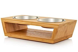 Premium Elevated Dog and Cat Pet Feeder, Double Bowl Raised Stand Comes ... - $29.37