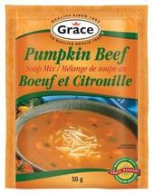 Grace Pumpkin Beef Soup Mix 12 x 50g pouches  - $59.99