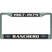 ford ranchero 1967-1979 auto car logo chrome license plate usa made - $28.49