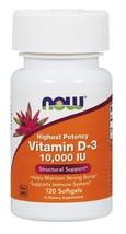 NOW Foods Vitamin D-3 10,000 IU - 120 Softgels - $14.40
