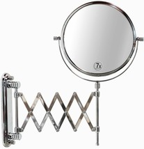 Wall Mounted Makeup Mirror Extended Magnifying Shaving Articulating Two-... - $34.95