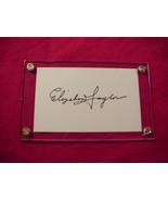 ELIZABETH TAYLOR  Autographed Signed Signature Cut w/COA - 30743 - $150.00