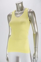 JESSICA SIMPSON Yellow Ribbed Sleeveless WARMUP Workout Athletic Tank To... - $11.76