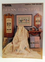Bless This Home Counted Cross Stitch Patterns Leisure Arts Leaflet 799 1989 - $1.79