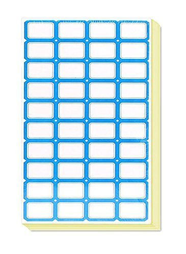 Primary image for 70 Sheets Name Tag Labels Blue Edge 40 per Sheet Labels Stickers