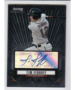 TIM FEDROFF AUTOGRAPHED CARD 2008 BOWMAN STERLING CERTIFIED CLEVELAND IN... - $4.48