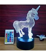 DANNTARA Unicorn 3D Multi-Color NightLight with Remote Control - $19.59
