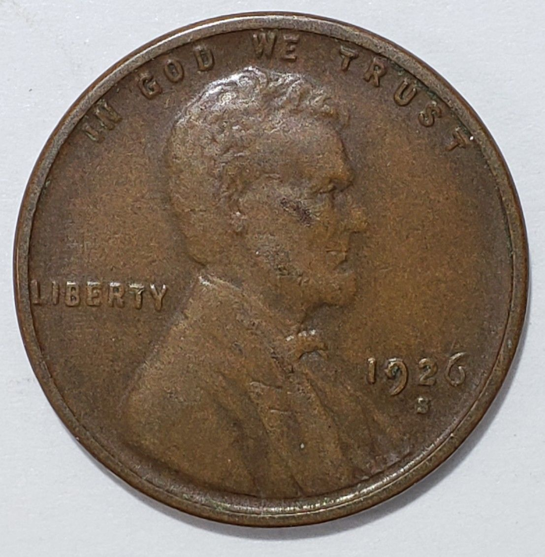 1926S LINCOLN PENNY CENT COIN LOT# E 322