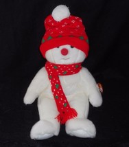 "13"" Ty B EAN Ie Buddies 1999 Snowboy Christmas Snowman Stuffed Animal Plush Toy - $23.38"