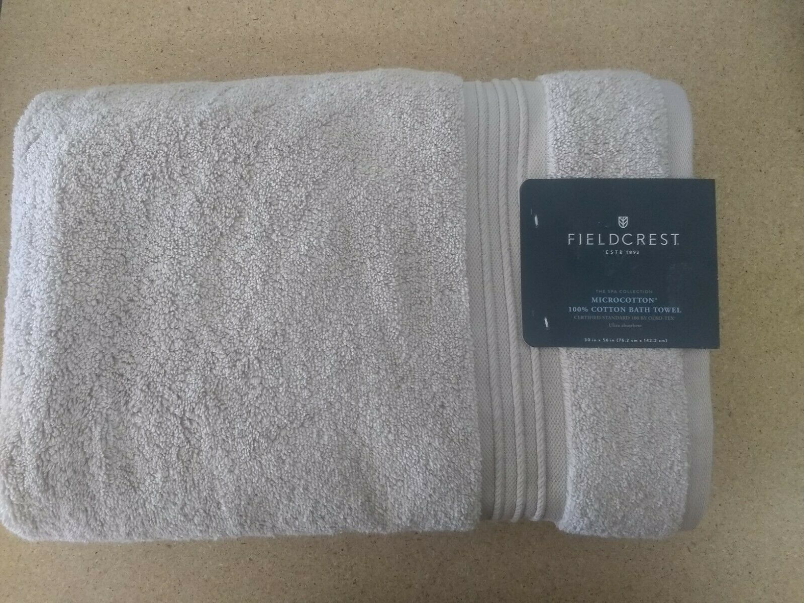 "Fieldcrest The Spa Collection 100% Cotton 30""x56""  Beige Linen"