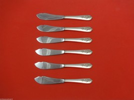 """Pendant-Of-Fruit by Lunt Sterling Trout Knife Set 6pc. HHWS  Custom Made 7 1/2"""" - $366.80"""