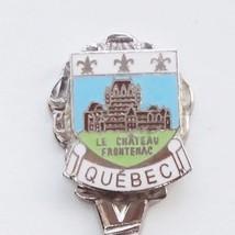 Collector Souvenir Spoon Canada Quebec Le Chateau Frontenac Cloisonne Em... - $9.99