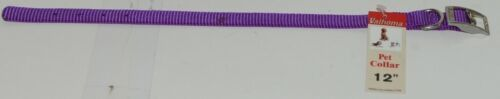 Valhoma 720 12 PR Dog Collar Purple Single Layer Nylon 12 inches Package 1