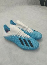 Adidas X 19.2 FG Soccer Cleats Bright Cyan Black Pink Mens Size 7 NEW F35387 - $64.34