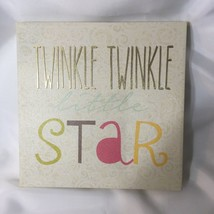 Twinkle Twinkle Little Star Canvas Art Wall Plaque Birthday Theme Kids R... - $7.12
