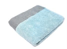 Luxury Herringbone 100% Combed Cotton Duck Egg Blue Hotel Quality Bath Towel - $25.61