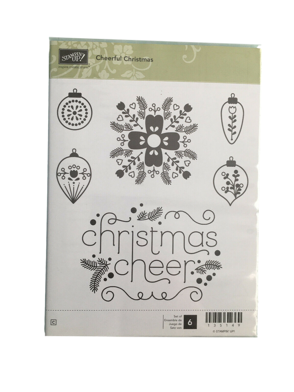 Primary image for Stampin' Up Cheerful Christmas Stamp Set #135149