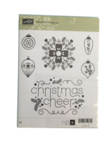 Stampin' Up Cheerful Christmas Rubber Cling Stamp Set #135149 - $13.99