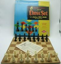 E.S. Lowe Tournament Plastic Chess Set Game No. 801 Staunton Hallow Comp... - $29.99