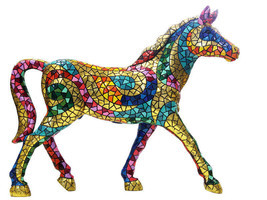 Barcino Carnival Horse Sculpture Hand Painted Spain New - $720.00