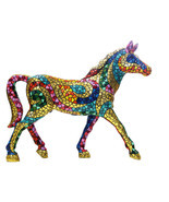 Barcino Carnival Large Horse Sculpture  Hand Painted NEW - $16.398,08 MXN