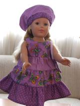 Luau dress (Hawaiian), with matching purse and hat fits American girl, 1... - $23.00