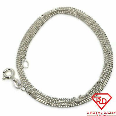 Primary image for Extra Thin curb Chain 16 inch Necklace 925 Solid Silver
