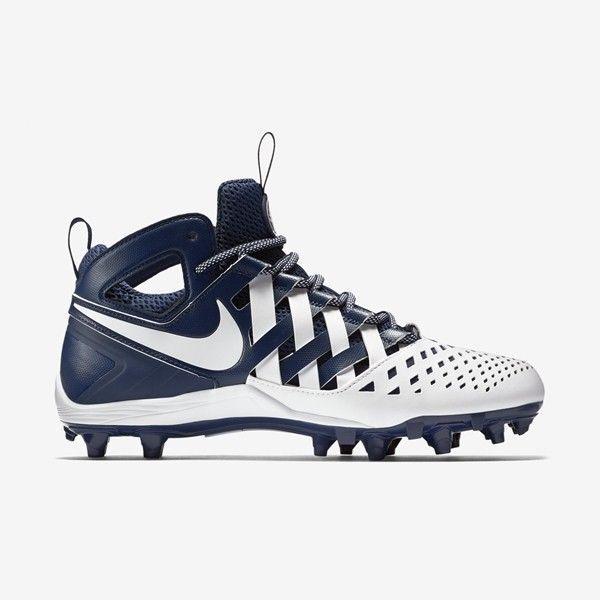 Nike Huarache V LAX Lacrosse Navy White Mens Size 13 Football Cleats 807142 410 - $39.95