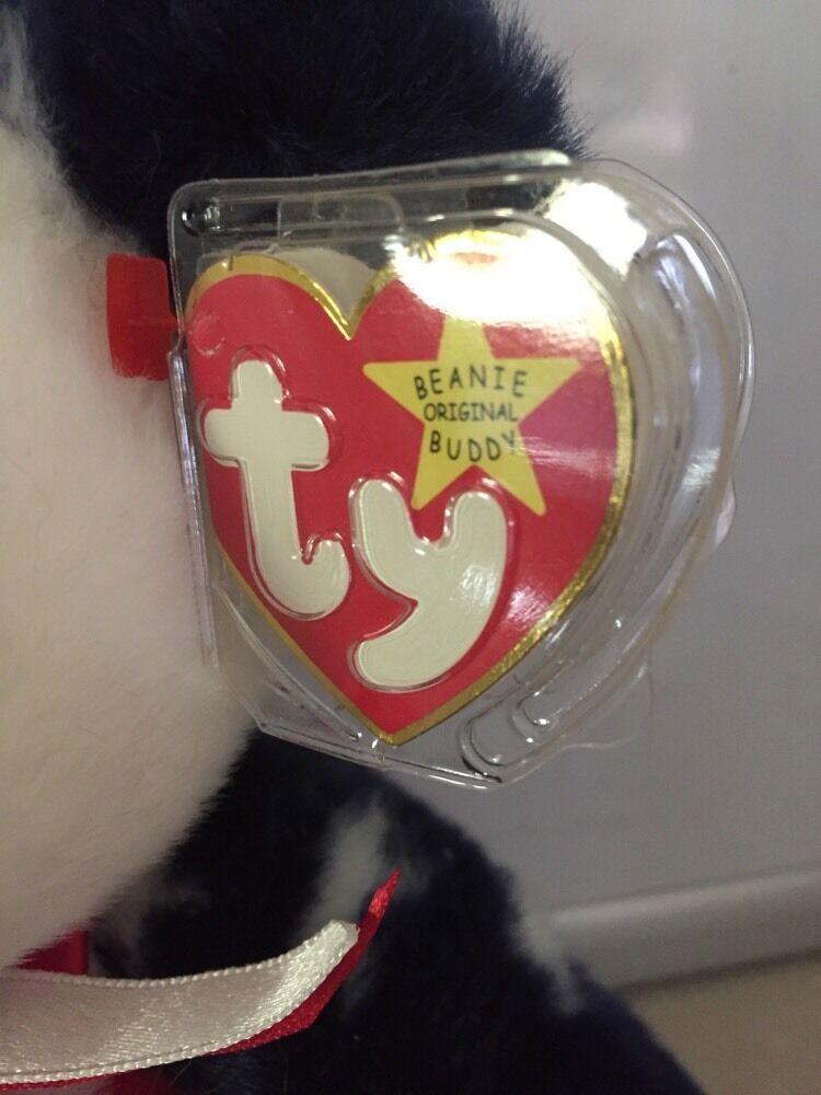 TY Spangle Teddy Bear Beanie Buddy 1999 Stuffed plush image 2
