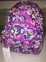 VERA BRADLEY ESSENTIAL COMPACT BACKPACK FLOWER GARDEN SCHOOL COLLEGE SMA... - $59.39