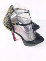 Betsey Heels Johnson 8M Studs Vintage Gold Black Size Alexis Platform rqrwSUT6